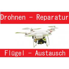 Drohnen Flügelaustauch